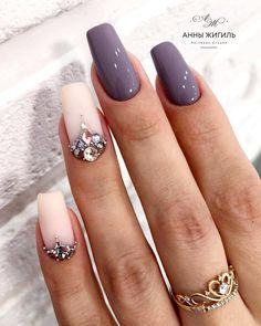 The work of the master Krasnodar . Sparkle Nails, Fancy Nails, Bling Nails, Cute Nails, Pretty Nails, Swarovski Nails, Crystal Nails, Fabulous Nails, Gorgeous Nails