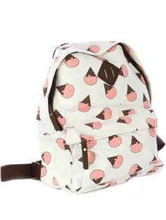 This pink, brown and white Ice Cream Cone Bag is too cute!