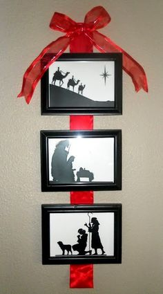 DIY~ 3 Picture Nativity Wall Hanging