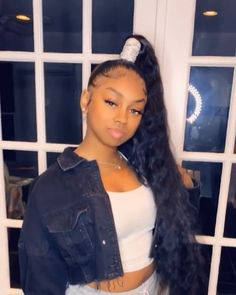 hairstyles for grade hairstyles how to hairstyles medium hairstyles black girl curly hairstyles hairstyles over 80 hairstyles quick weave hairstyles over 70 Hair Ponytail Styles, Weave Ponytail Hairstyles, Ponytail Wig, Sleek Ponytail, Baddie Hairstyles, My Hairstyle, Black Girls Hairstyles, Curly Hair Styles, Natural Hair Styles