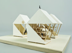 the 'pocket house' by vienna-based architect luna perschl is a modular system that can be placed in disaster-prone areas to prevent housing shortages.