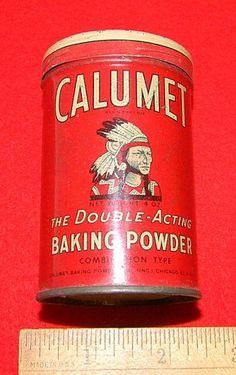 Calumet Baking Powder Tin Old Advertising Vintage