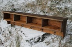 Rustic Reclaimed Barnwood Shelf Cubby