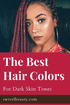 Don't let the title of this post fool you. What we're not going to do in 2020 is tell you which colors you can and can't rock with a dark skin tone. Why? Because there isn't a color that's off limits when applied correctly on healthy hair. Some may want to take into account choosing the perfect hair color for the season or undertones, but it's truly up to you. Though the options are limitless, here are our six favorite hair colors that look amazing on dark ski