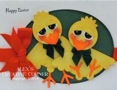 Alex's Creative Corner: Little Chicks Punch Art