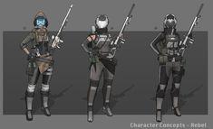 Sniper Girl Concept, Joshua Xiong on ArtStation at https://www.artstation.com/artwork/sniper-girl-concept