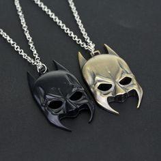 Hot Movies DC Comics Super Hero Marvel 3D Batman Mask Choker Pendant Necklaces Dark Knight Chain Necklace Jewelry Accessories