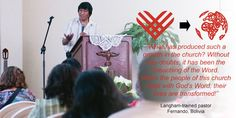 """""""What has produced such a growth in the church? Without any doubts, it has been the preaching of the Word. When the people of this church meet with God's Word, their lives are transformed!""""   --Langham-trained pastor, Fernando, #Bolivia   www.globaltuesday.org #Bible"""