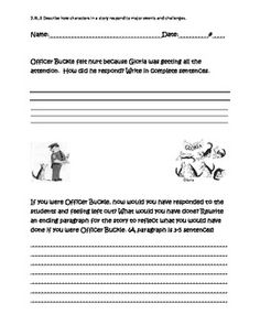 Graphic Organizer for Officer Buckle and Gloria