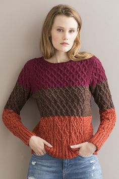 NobleKnits.com - Tahki Tucson Joie De Vivre Pullover Knitting Pattern PDF, $5.95 (http://www.nobleknits.com/tahki-tucson-joie-de-vivre-pullover-knitting-pattern-pdf/)
