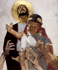 """Ben Denison, """"The Stations of the Cross"""" for St. Isaac Jogues - a Catholic Church in Niles, Illinois"""