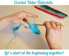 *More videos will be added in the future! Videos best viewed in expanded mode. How to make a slipknot How to hold your yarn and do the chain stitch The next 4 videos are meant to be watched back to…