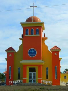 Puerto Rico  Nice basic shapes and bold colours. I wish more houses were built as beautifully as churches.