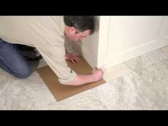 Installing Your Peel-and-Stick Vinyl Tile Floor #easy