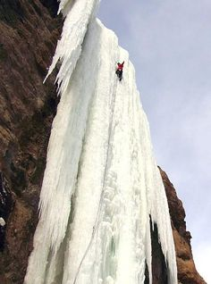 Another mammoth ice climb can be found in South Fork Valley, Wyoming. Called 'The Testament', this pillar of ice is 180ft high. For the extra fear factor, you should know that the frozen waterfall is only attached to rock at the top - most of the ice is suspended in mid-air.