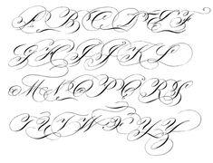 Flourished Engrosser's Script