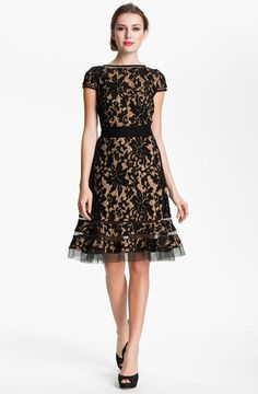 Just bought! Textured Lace Dress - Tadashi  Can't wait to wear this in May to a NYC wedding!