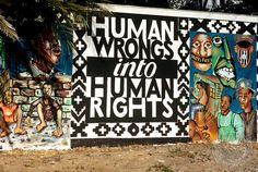 Human Wrongs into Human Rights // Gardens, Cape Town