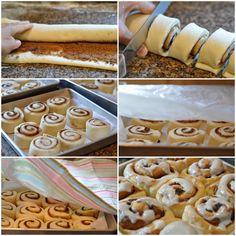 Mennonite Girls Can Cook: Cinnamon Bun Class Cinnamon Butter) Amish Recipes, Baking Recipes, Dessert Recipes, Honey Recipes, Dessert Ideas, Bread Recipes, Sweet Recipes, Cinnamon Bun Recipe, Cinnamon Rolls