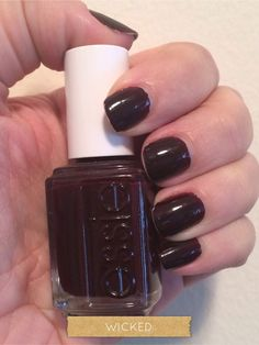 Essie dark red nail polish in Wicked