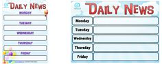 Daily News Chart for your Classroom — Edgalaxy