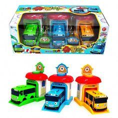 Little Bus Tayo Shooting Car Bus Shooting Garage Rogi Tayo Rani Tayo The Little Bus, Toy Garage, Car Set, Diecast, Usb Flash Drive, Hobbies, Toys, Ebay, Movie