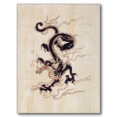 Japanese Embroidery Tiger Chinese Dragon, perfect outline for tattoo - Japanese Dragon, Japanese Art, Chinese Zodiac, Chinese Art, Dragon Oriental, Chinese Dragon Tattoos, Dragon Illustration, Dragon's Lair, Year Of The Dragon