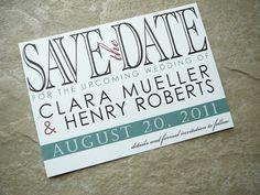 Typographic Save the Date Wedding Invitation