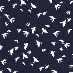 I saw this over at Lola Pink Fabrics.  Love the white birds on navy.  I feel this fabric could be used in a boys quilt since it's not full of flowers.