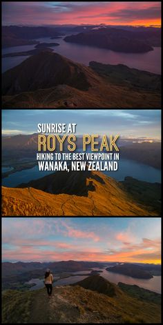 Sunrise at Roys Peak — one of the best hikes in Wanaka New Zealand. Find out everything you need to know about this stunning hour hike. Brisbane, Melbourne, Sydney, New Zealand Itinerary, New Zealand Travel Guide, Wanaka New Zealand, New Zealand South Island, Wanderlust, Best Hikes