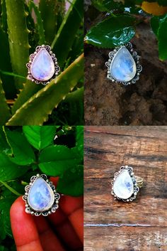 Art Deco Jewelry, Jewelry Gifts, Handmade Jewelry, Jewelry Design, Moonstone Jewelry, Pendant Jewelry, Silver Jewelry, Vintage Rings, Vintage Style
