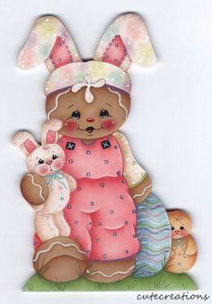 HP GINGERBREAD Bunny Easter FRIDGE MAGNET
