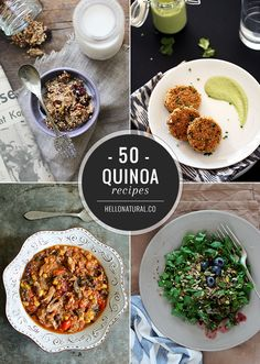 Not sure how to incorporate this superfood into your daily diet? Here are 50 healthy quinoa recipes for every meal of the day!