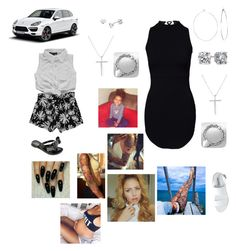 """""""Headed to birthday party"""" by dillyntroywifeyyyy on Polyvore featuring Steve Madden, Phyllis + Rosie, Blue Nile, mizuki, Tiffany & Co. and Porsche"""