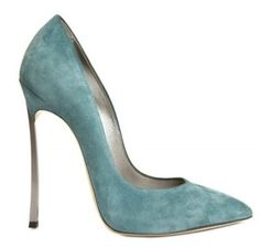 Casadei suede stiletto high heels and the color is AMAZING! Blue Suede Shoes, Suede Pumps, Teal Heels, Pretty Shoes, Beautiful Shoes, Ankle Boots, Shoe Boots, Crazy Shoes, Me Too Shoes