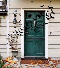 Bat-Filled Front Door