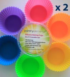 Pantry Elements Silicone Baking Cups Cupcake Liners