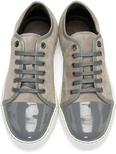 Lanvin Men's Grey Suede Sneakers free shipping pay with paypal kLjlsVMWW