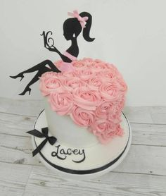 Two Piece Lady with Age Silhouette Cake Topper Two Piece Lady with Age Silhouet. Two Piece Lady with Age Silhouette Cake Topper Two Piece Lady with Age Silhouette Cake Topper – 16th Birthday Cake For Girls, Sweet 16 Birthday Cake, Beautiful Birthday Cakes, Happy Birthday Cakes, Birthday Cake Toppers, Beautiful Cakes, Cakes For Girls, Special Birthday, Silhouette Cake