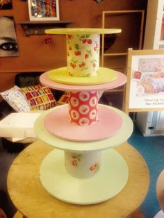 Cable reel Cath kidston style shop display