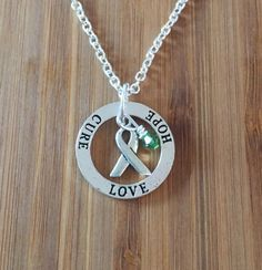 Love Hope Cure Lyme Disease Awareness Necklace by FightingTogether