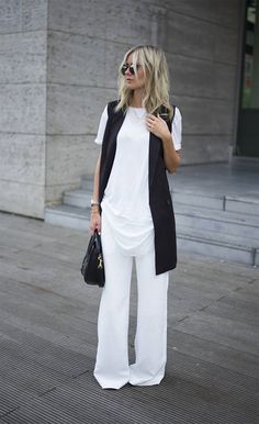Lisa R V D Black And White Girly Outfit Idea