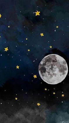 Log in : Star Wallpaper, Screen Wallpaper, Aesthetic Iphone Wallpaper, Aesthetic Wallpapers, Phone Backgrounds, Wallpaper Backgrounds, Moon Art, Stars And Moon, Night Skies