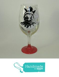 Twisty the Clown wine glass from Custom Creations by Danielle LLC https://www.amazon.com/dp/B01LYBKKT2/ref=hnd_sw_r_pi_dp_7KiVyb8M3N4GS #handmadeatamazon