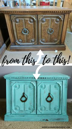 It may sound odd but shabby chic furniture is highly in demand these days. You must be thinking that how can something chic and elegant be shabby. However, that seems to be the current trend and most people are opting to go for furniture of that kind. Diy Furniture Tutorials, Diy Furniture Redo, Furniture Ideas, Antique Furniture, Bedroom Furniture, Upcycled Furniture, Office Furniture, Wood Furniture, Outdoor Furniture