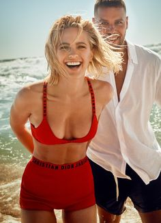 Marie Claire Australia March 2018 Buddy Franklin and Jesinta Franklin by Georges Antoni - Fashion Editorials Stylish Eve Outfits, Casual Work Outfits, Professional Outfits, Swimwear Model, Trendy Swimwear, Swimwear Fashion, Curvy Fashion, Fashion Models, Celebrities Fashion