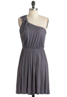 Grecian Earn Dress on ModCloth Vestidos Vintage Retro, Retro Vintage Dresses, Unique Dresses, Pretty Dresses, Beautiful Dresses, Mod Dress, Dress Skirt, Grecian Dress, Grey Fashion