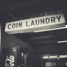black and white photograyphy laundry | Laundry, 8x8 Black and White Laundromat Vintage Retro Sign Photography ...