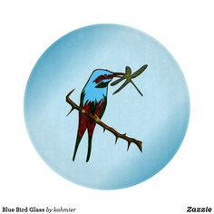 Blue Bird Glass Cutt