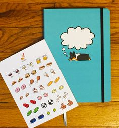 Tricolor Pembroke Corgi Dreams Notebook (With Bonus Emoji Sticker Sheet!) | Dot Grid Bullet Journal | LIMITED EDITION Only 20 Available! by CorgiThings on Etsy https://www.etsy.com/listing/496192265/tricolor-pembroke-corgi-dreams-notebook